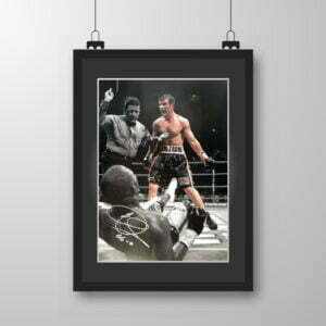 Signed & Framed Joe Calzaghe 'Fight' Print