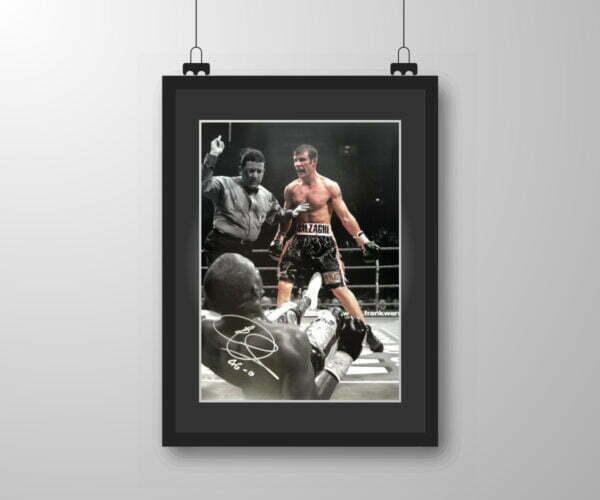 Signed & Framed Joe Calzaghe (v Lacy) Fight Print