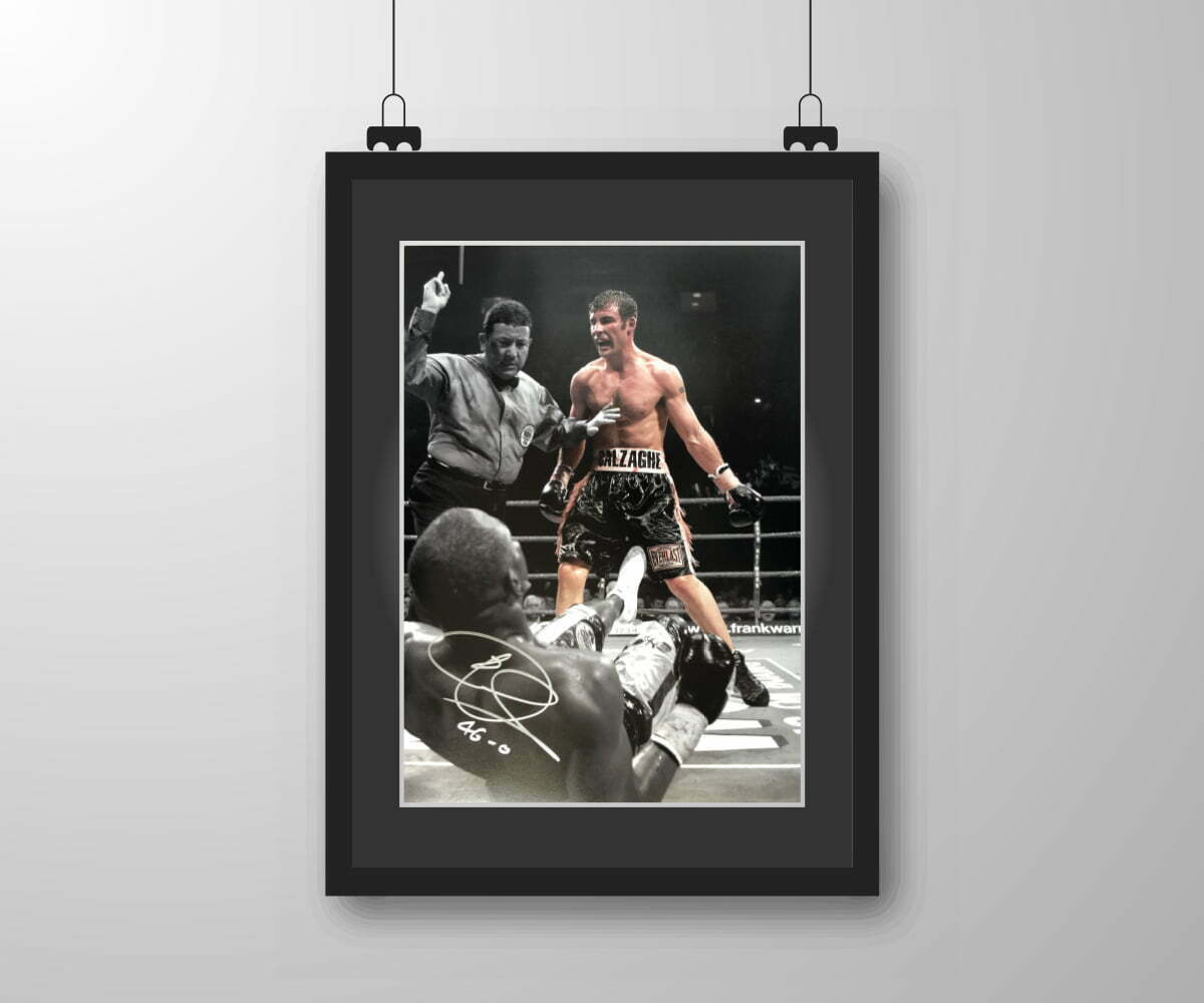 Signed & Framed Joe Calzaghe 'Fight' Print
