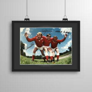 Signed and framed Pontypool Front Row print
