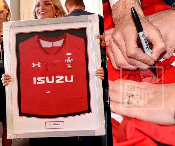 George North Framed Wales Jersey