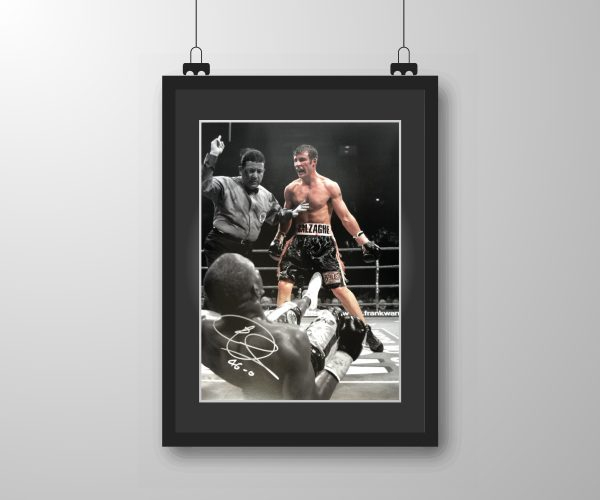 Signed & Framed Joe Calzaghe (v Lacy) Fight Print